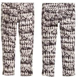 NWT H&MxIsabel marant tie dye biker pants size US2